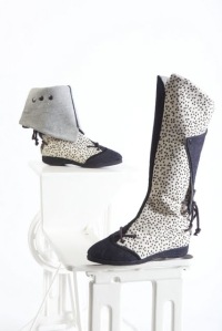 One of a kind polka dot boot