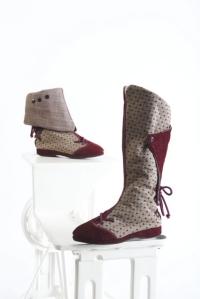 One of a kind polka dot footwear