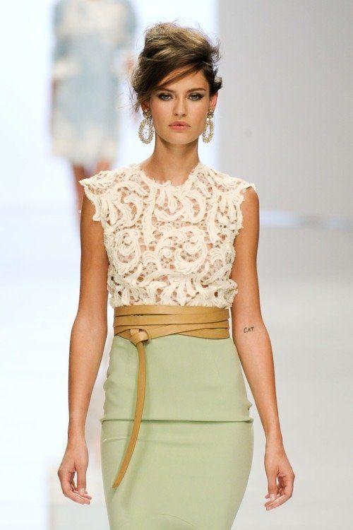 lace paisley blouse