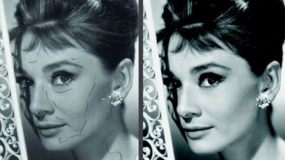 Audrey Hepburn airbrushed
