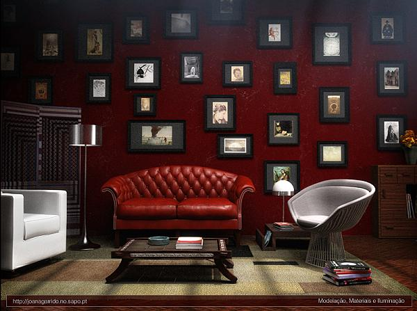 Burgundy interior decor earth wind style blog - Red walls in living room ...
