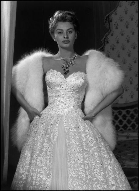 sophia loren evening gown