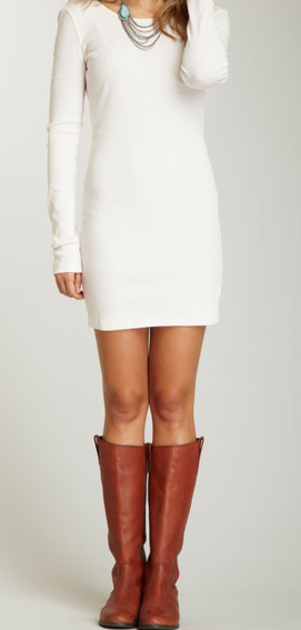 boots with skirts and dresses essential winter looks