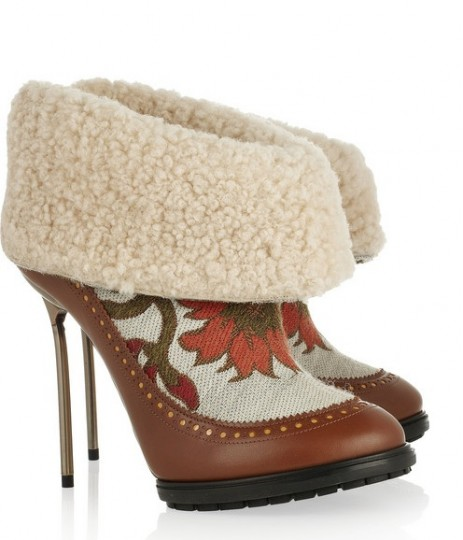 Brocade boots by Bally