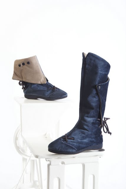 Convertible fabric boots