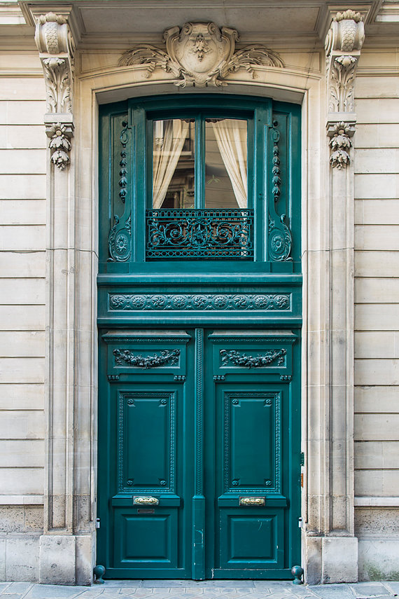 Paris door teal