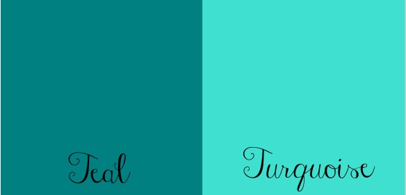 Teal vs Turquoise